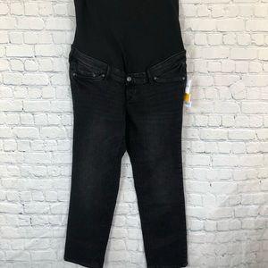 NWT H&M Maternity Black Slim Ankle High Rib Jeans